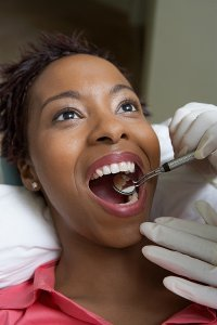 having dental checkup