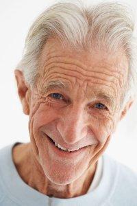 old man smile